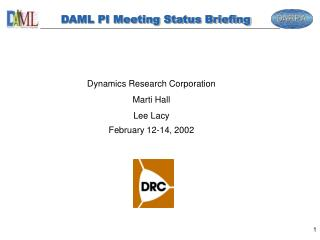 DAML PI Meeting Status Briefing