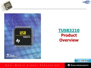 TUSB3210 Product Overview