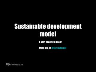 Sustainable development model