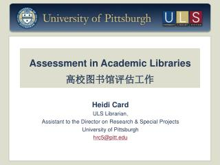 Assessment in Academic Libraries