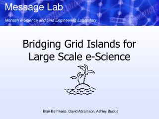 Bridging Grid Islands for Large Scale e-Science