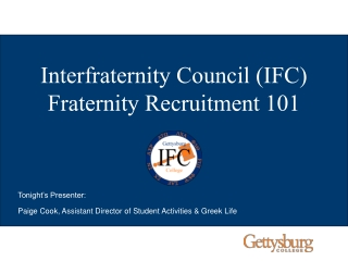 Building a Strong Recruitment Program Through Leadership of the Interfraternity Council