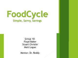 FoodCycle Simple, Savvy, Savings