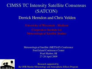 CIMSS TC Intensity Satellite Consensus SATCON