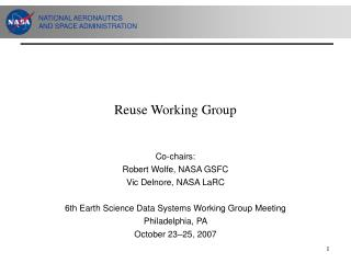 Reuse Working Group