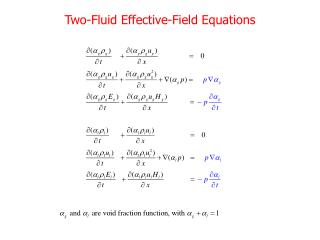 Two-Fluid Effective-Field Equations