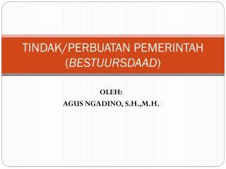 TINDAK/PERBUATAN PEMERINTAH ( BESTUURSDAAD )