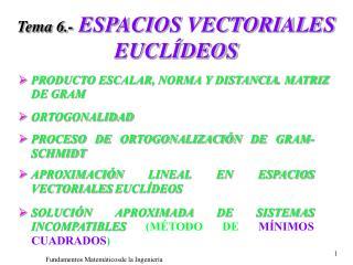 Tema 6.- ESPACIOS VECTORIALES EUCL DEOS