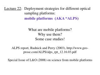 What are mobile platforms?  Why use them?  Some case studies!