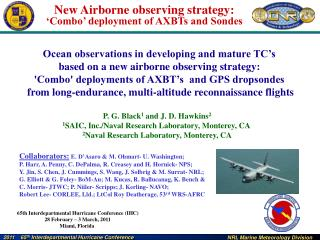 Ocean observations in developing and mature TC's  based on a new airborne observing strategy: