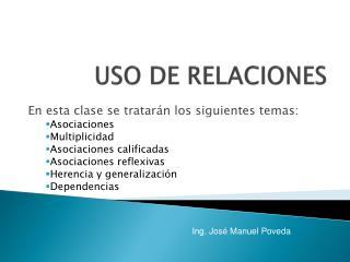 USO DE RELACIONES