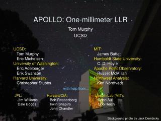 APOLLO: One-millimeter LLR
