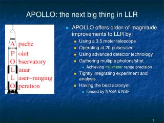 APOLLO: the next big thing in LLR