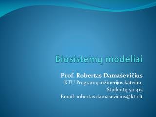 Biosistemų modeliai