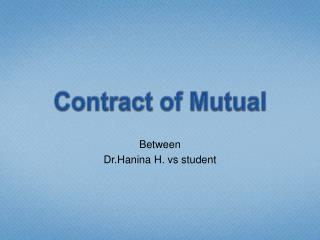 Contract of Mutual