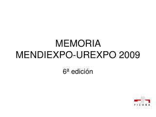 MEMORIA  MENDIEXPO-UREXPO 2009