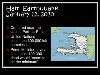 Haiti Earthquake  January 12, 2010