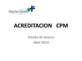 ACREDITACION   CPM