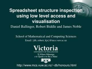 Spreadsheet structure inspection using low level access and visualisation
