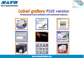 Label gallery PLUS version Professional Level software with advanced features