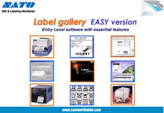 Label gallery   EASY version Entry Level software with essential features