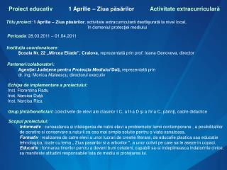 Proiect educativ