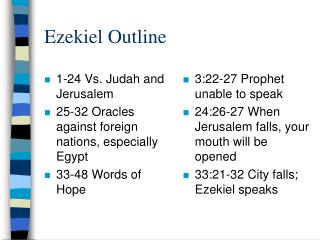 Ezekiel Outline