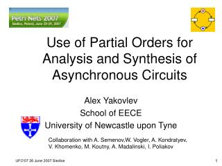 Use of Partial Orders for Analysis and Synthesis of Asynchronous Circuits