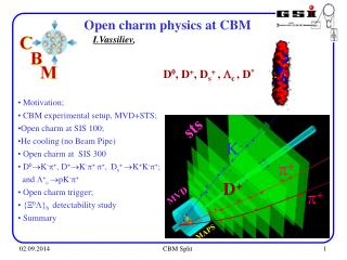 Motivation;  CBM experimental setup, MVD+STS; Open charm at SIS 100;  He cooling (no Beam Pipe)