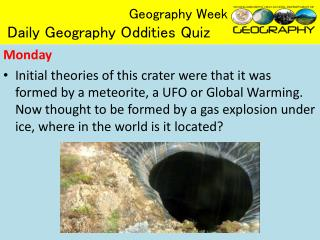 Geography Week Daily Geography Oddities Quiz