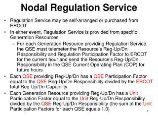 Nodal Regulation Service