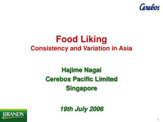Food Liking Consistency and Variation in Asia
