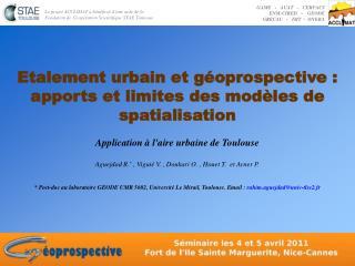 Etalement urbain et géoprospective : apports et limites des modèles de spatialisation