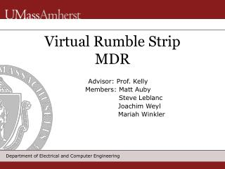 Virtual Rumble Strip MDR