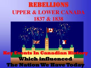 REBELLIONS  UPPER  LOWER CANADA 1837  1838