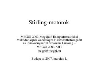 Stirling-motorok