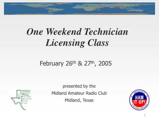 One Weekend Technician Licensing Class
