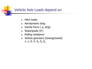 Vehicle Axle Loads depend on