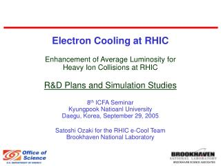 RHIC Operations and Plans