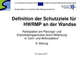 Definition der Schutzziele für HWRMP an der Wandse