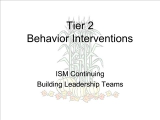Tier 2  Behavior Interventions