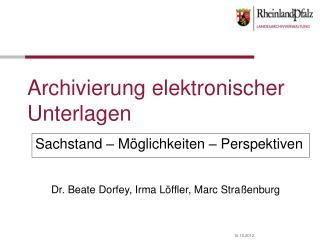 Archivierung elektronischer Unterlagen