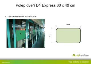 Polep dveří D1 Express 30 x 40 cm