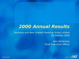 2000 Annual Results