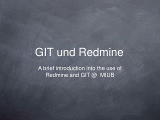 GIT und Redmine