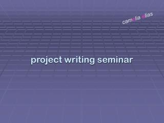 project writing seminar