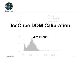 IceCube DOM Calibration