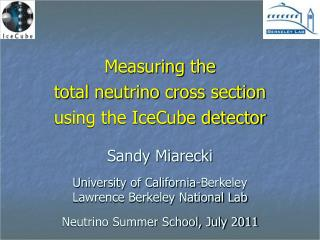 Measuring  the  total neutrino cross section  using the IceCube detector