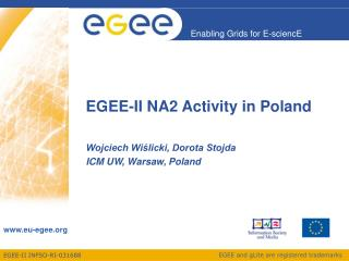 EGEE-II NA2 Activity in Poland
