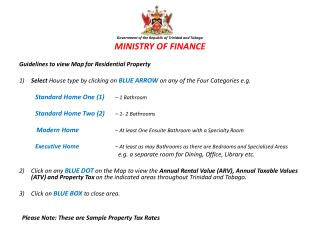 Government of the Republic of Trinidad and Tobago MINISTRY OF FINANCE